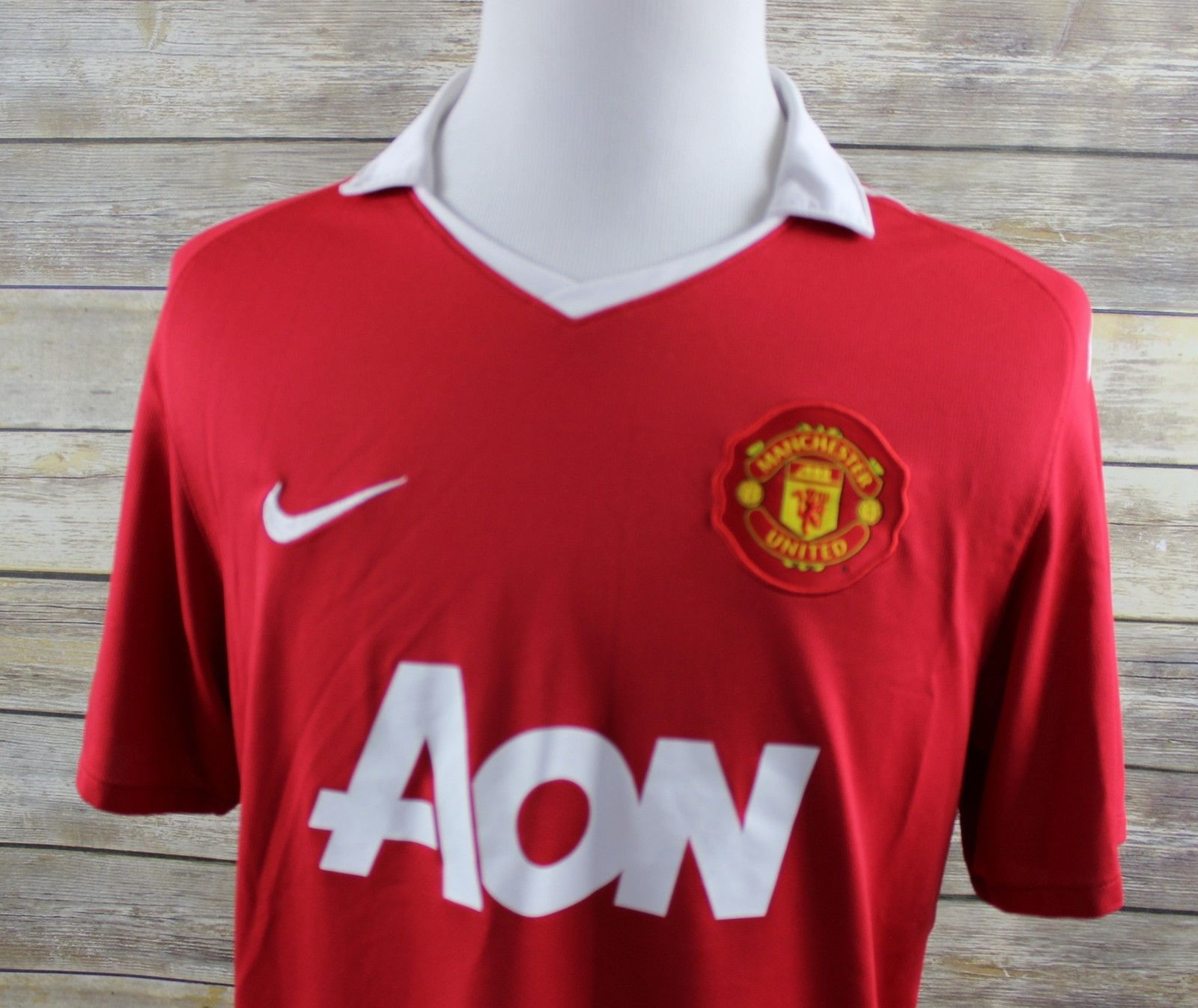 9a68f9110ac NEW Nike Dri-Fit Manchester United Polo Shirt MENS LARGE Red MUFC Soccer