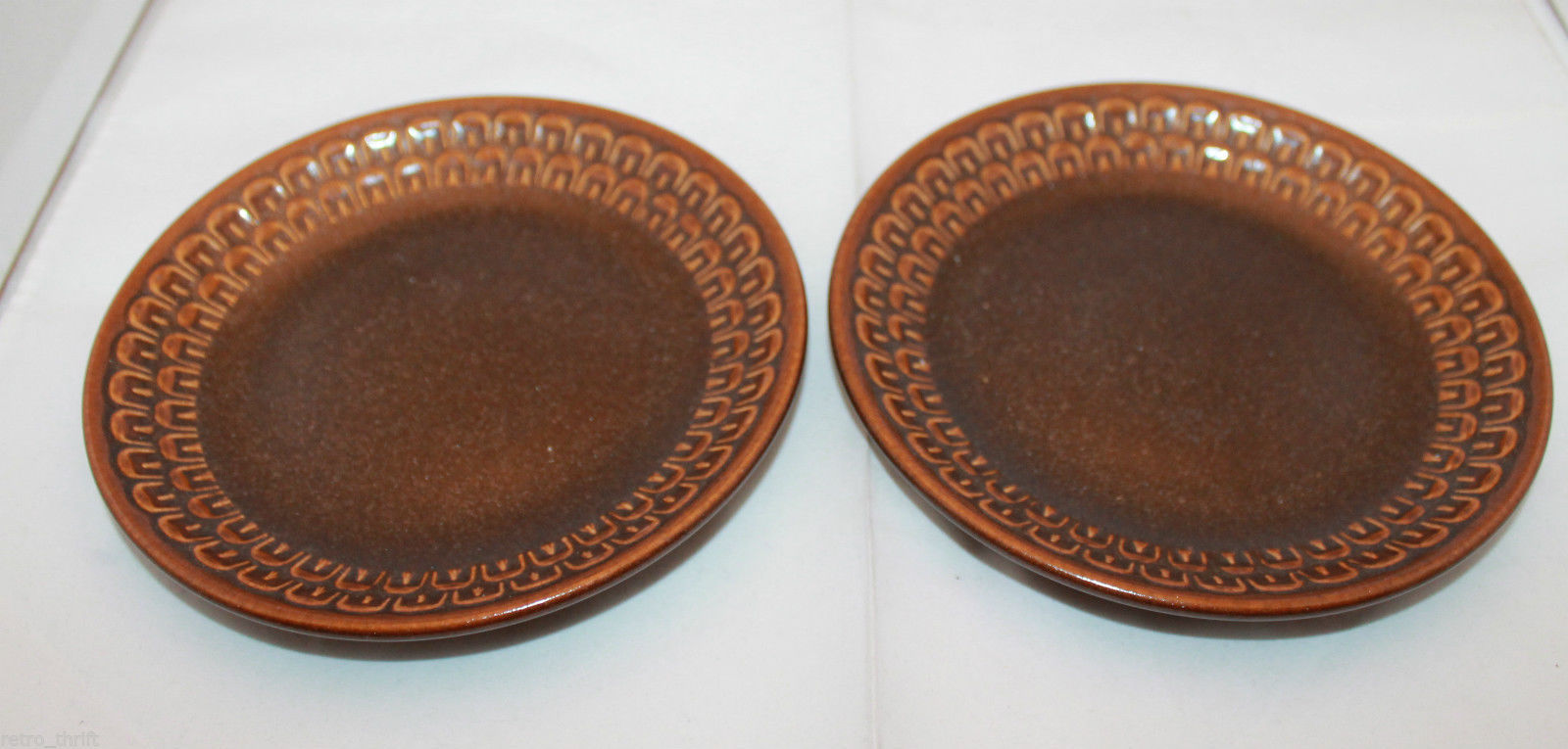 Wedgwood Set of 2  Pennine Brown Bread & Butter Side Plates Dish Made in England image 2