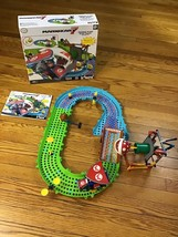 Mario Kart 7 Knex Piranha Plant Slide Track Race Toy Building Toy 99% Complete - $98.95