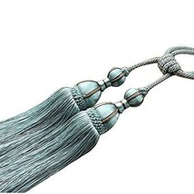 George Jimmy 1 Pair Tassels Window Curtain Tiebacks Rope Drapes Ropes with Knots - $38.27