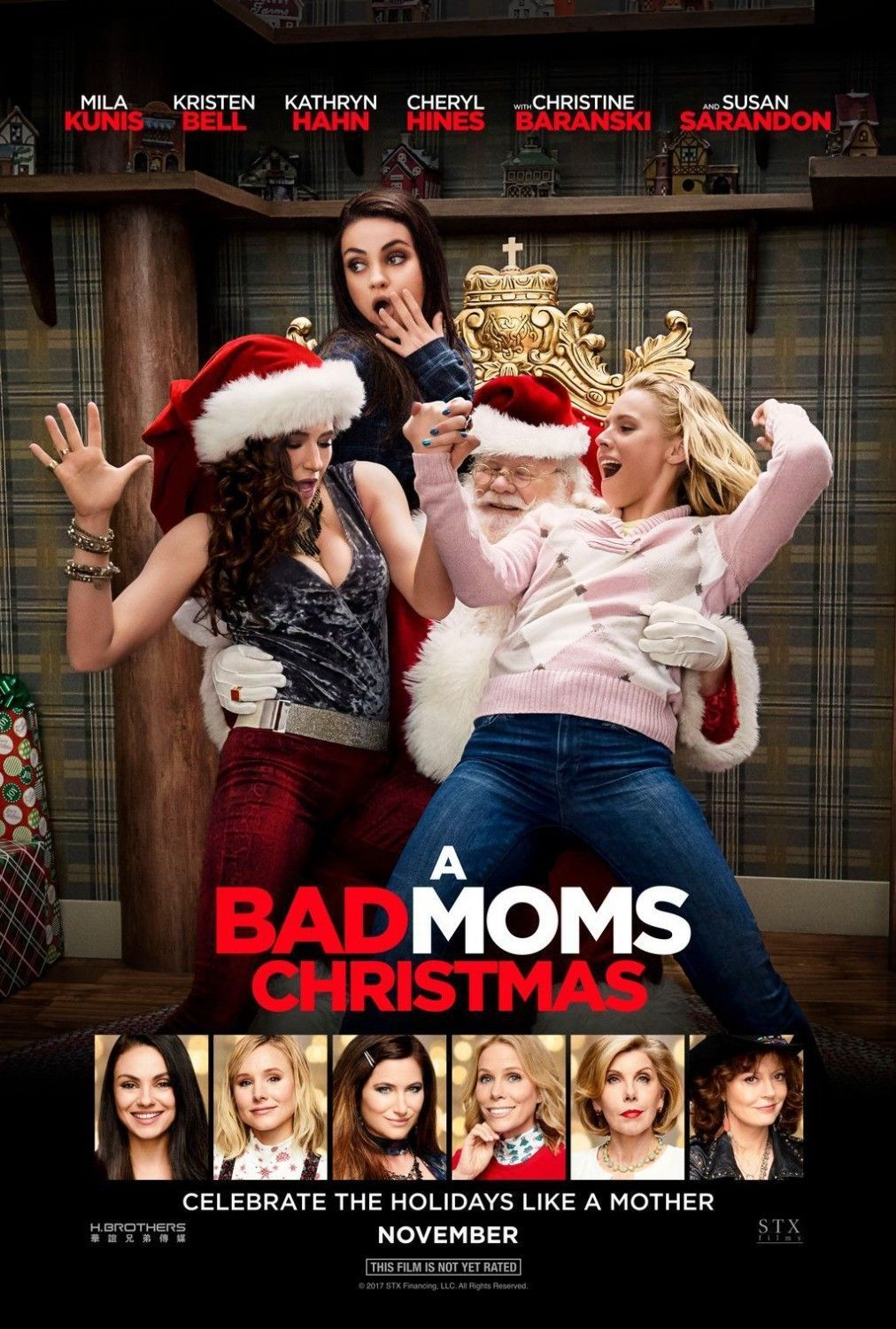 Bad Moms Christmas - original DS movie poster - 27x40 D/S Advance