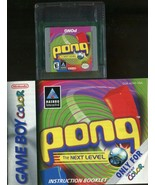 Pong: The Next Level (Nintendo Game Boy Color, 1999) Comes with Manual - $6.92