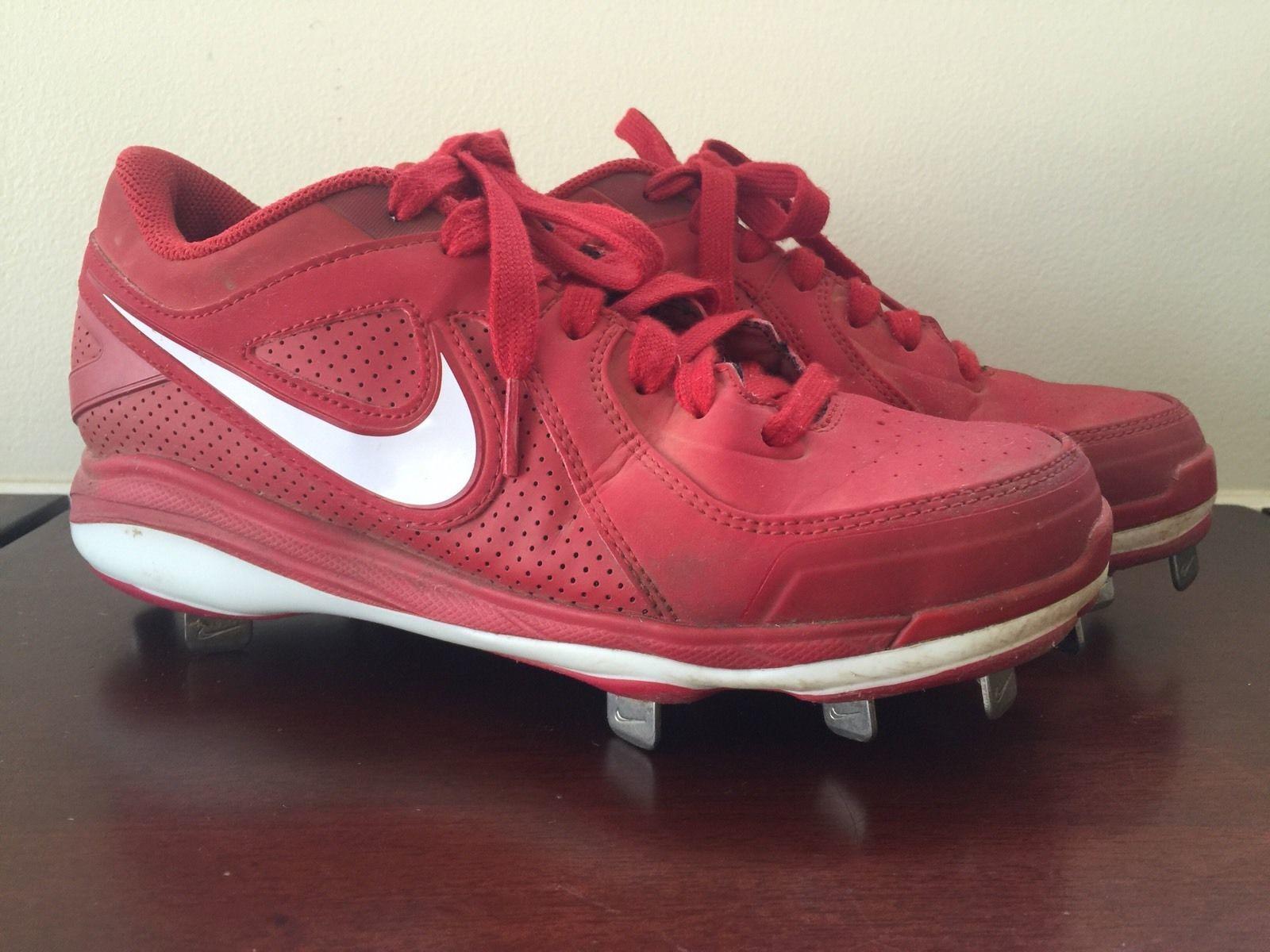 premium selection d7959 c31ce Men Nike MVP Pro Baseball Red Soccer Cleats Size 5.5