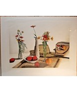 """Still Life with Toaster print signed kitchen fruit flowers fedora 27.5"""" ... - $17.81"""