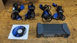 CTG 35555 4-Port KVM Switch / USB HUB - $24.75