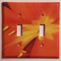Heart of the Red Flower Light Switch Duplex Outlet Wall Cover Plate Home decor image 2