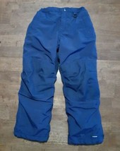 Lands End Boys Girls Ski Snow Pants Size 7 Navy Blue Insulated Waterproof - $19.99