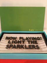 Kate Spade Nib Glass Trinket Tray Now Playing Light The Sparklers Gift Jewelry - $45.00