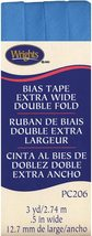 """Wrights 1/2"""" Extra Wide Double Fold bias tape PC 206 - 3 Porcelain Blue 206 121 - $7.55"""