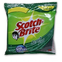 2 Pad Pack Scotch Brite Scrub Pad With Stain Cutters (10X14Cm) Unique 'S... - $5.89
