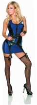 NEW Delicious Arresting Beauty Costume, Blue/Black, Large - $12.75