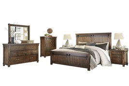 Ashley Lakeleigh 6PC Bedroom Set E King - Brown - $3,430.19