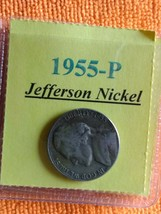 1955 - P Jefferson Nickel.+ FREE GIFT with your Jefferson Nickel. Great ... - $2.99