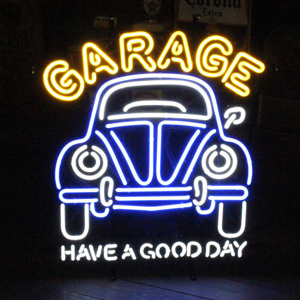 "New Vintage Car Garage Have A Good Day 50's Neon Sign 32""x24"""