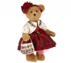 "Boyds Bears ""Evanka Von CRIMSON""- 14"" Qvc Exclusive Bear - #4016277 - NEW-2009 - $89.99"