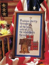 Cross Stitch Patriotic Liberty Bell Uncle Sam Pride of Patriots Picture Patterns - $9.99