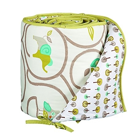 Primary image for Lolli Living Animal Tree Bumper – Animal Tree – 100% Cotton Crib Bumper, Reversi