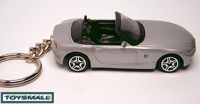 KEY CHAIN RING 2003/07/2009 SILVER GREY/GRAY BMW Z4 TAG