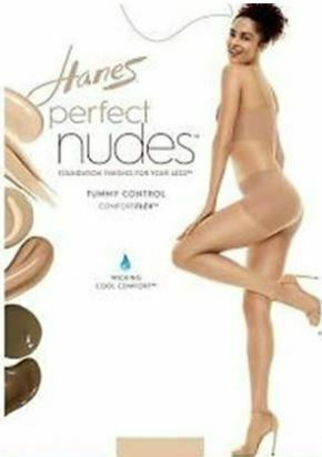 Hanes NUDE2 Perfect Nudes Control Top Hosiery , 2 Pack, Size L