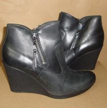 UGG Australia Meredith Black Wedge Leather Ankle Boots Size US 7.5 NIB #... - $1.656,44 MXN