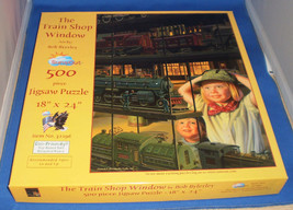 500 Piece Puzzle titled The Train Shop Window. - $19.79