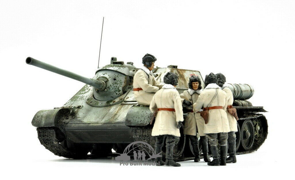 Primary image for SU-85 SOVIET SPG Mod.1943 w/CREWS (Early Production) WW2 1:35 Pro Built Model