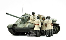 SU-85 SOVIET SPG Mod.1943 w/CREWS (Early Production) WW2 1:35 Pro Built ... - $351.45