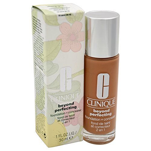 Primary image for Clinique Beyond Perfecting Foundation + Concealer # 18 Sand (M-N), 1 Ounce