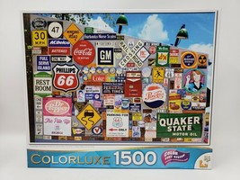 Cra-Z-Art Colorluxe 1500 Pc Jigsaw Puzzle - Road Signs & License Plates - $26.99