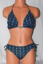Xhilaration Women's Anchor Print Blue-Multi Color Bikini Set  Size: See ... - $13.09