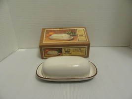 NOS DeVille Capri Collection By Jon Paul Stoneware Covered Butter Dish-Japan IOB - $19.95