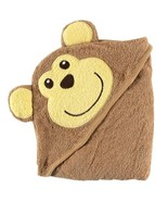 Luvable Friends Animal Face Hooded Woven Terry Baby Towel, Monkey Discon... - $13.69