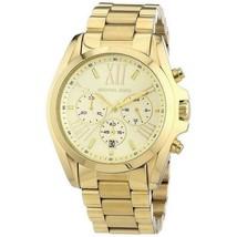 Michael Kors Women's Watch Ladies Stainless Steel Bracelet MK5605 Golden - $211.73