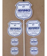 NEW REFLECTIVE BRINKS SECURITY Yard Signs with 4 BRINKS Window Decals wi... - $9.99