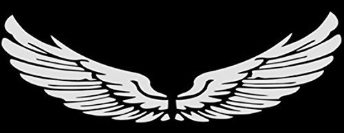 Set of 2 Wings Family Car Stickers Unique Design Car Sticker White