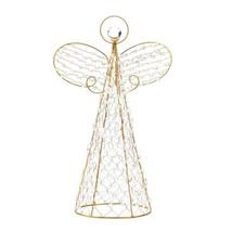 Angel Home Decor, Beaded Tree Topper Christmas Decoration Angel Table Decor - $35.93