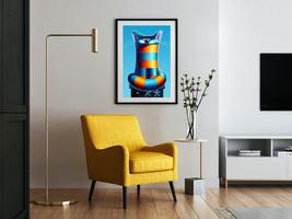 """Poster """"Bastet"""" 24x36"""" / Wall art /Print Art /Digital Print / Home&Offic... - $145.00"""