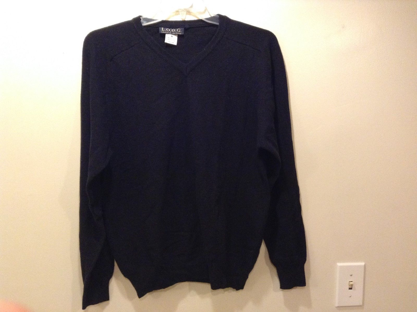L.O.G.G. Ladies Black V-neck Sweater Sz M