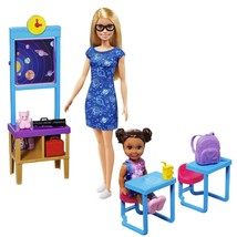 Barbie Space Discovery Dolls and Science Classroom Playset Teacher Doll - $47.77
