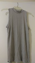 AMERICAN Eagle Outfitters Soft&Sexy Off White/Black stripes H/neck shirt S/P/CH - $15.00