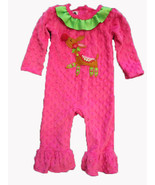 Mud Pie Mudpie Boutique Reindeer long sleeeve one piece pant set SIZE 6-... - $19.75