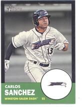 2012 Topps Heritage Minor League Black #98 Carlos Sanchez NM-MT SER/96 - $5.00