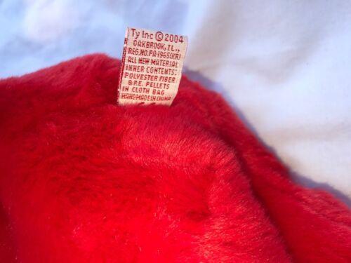 "SAM THE RED BEAR BEANIE BUDDY 2004 MWMT 14"" Patriotic Stars & Stripes Hat image 7"