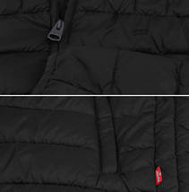 Levi's Men's Puffer Embroidered Logo Hood Quilted Packable Zipper Red Tab Jacket image 7
