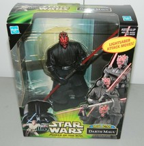 Star Wars Power of the Jedi Mega Action Darth Maul POTJ Lightsaber Attac... - $24.74