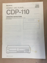 Sony CDP-110 CD Player Owners Manual *Original* - $8.60