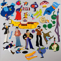 The Beatles Yellow Submarine Magnet Set BRAND NEW 50+ Magnets Characters OOP image 2
