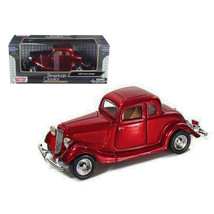 1934 Ford Coupe Red 1/24 Diecast Model Car by Motormax - $31.39