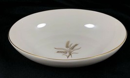 Wheat by Lenox R-442 OVAL Vegetable Serving Bowl Made in USA Used Gold Trim - $49.49