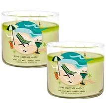 2 Bath & Body Works KIWI STARFRUIT COOLER Large Scented 3 Wick Candle 14... - $42.70